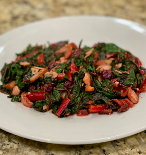 Bacon, Cranberry and Almond Swiss Chard thumbnail